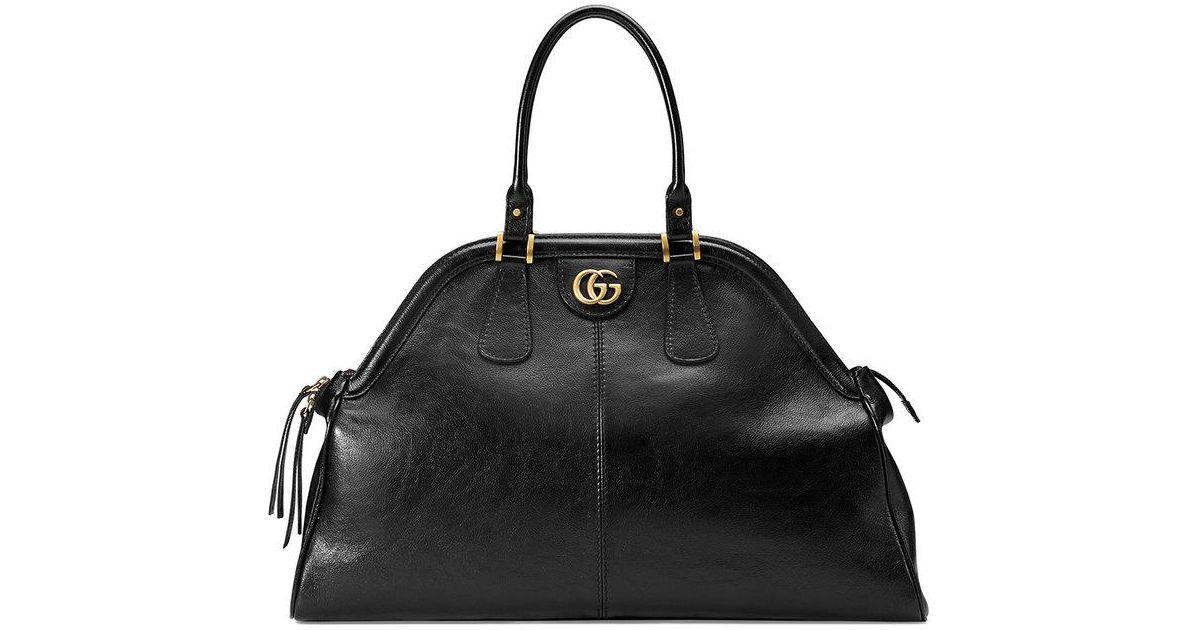 RE(BELLE) large top handle tote - Black Gucci Rf7Htzycz