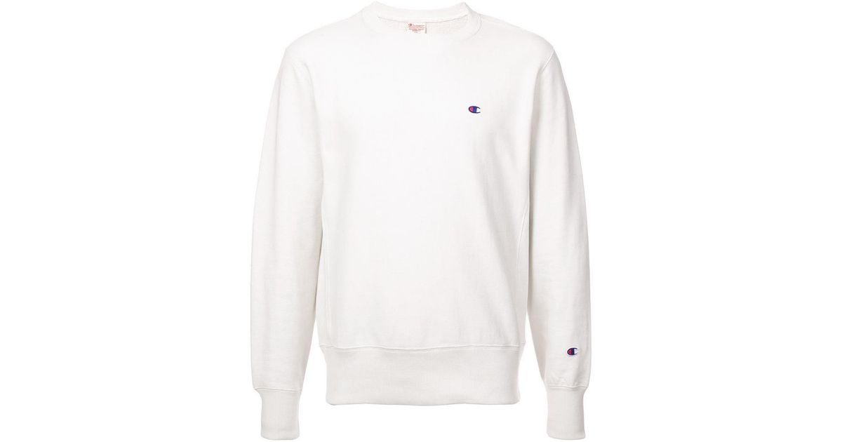 e26296f3d9d3 Champion Small Logo Sweatshirt in White for Men - Lyst