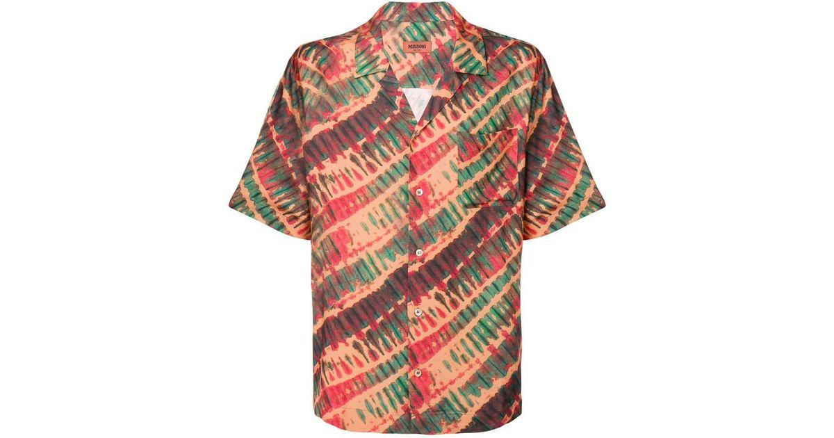 Lyst - Missoni Tie-dye Short Sleeve Shirt in Orange for Men 743449619