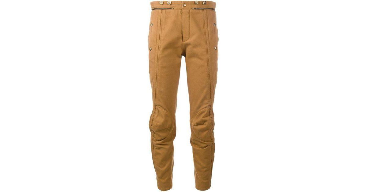 biker cropped trousers - Brown Chlo 0C9FoBSx