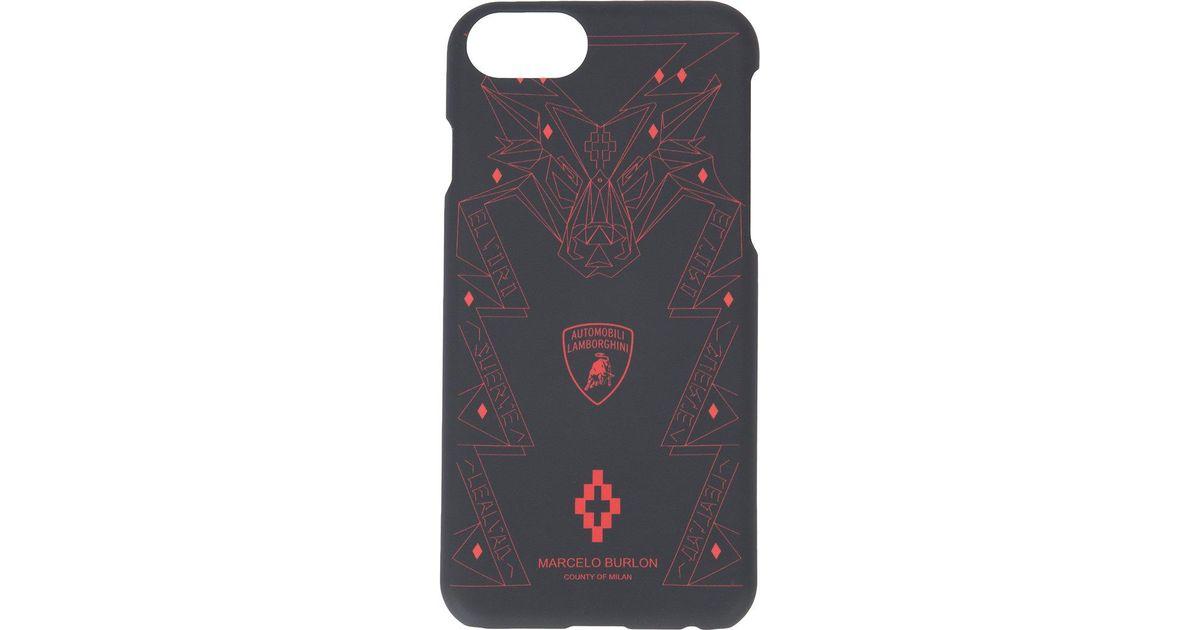 code promo nouvelle collection mode de luxe Marcelo Burlon Black Lamborghini Iphone 7 Case