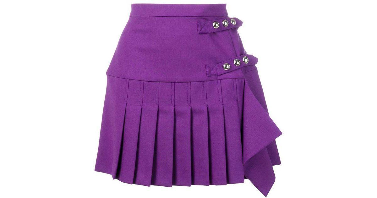 8c907d1df3 Lyst - Pinko Pleated Mini Skirt in Purple