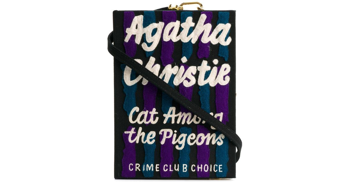 Cat Among The Pigeons Strapped Book clutch - Black Olympia Le-Tan Discount 100% Original Purchase For Sale Low Price Fee Shipping Online Get Online l7SBUIicKY