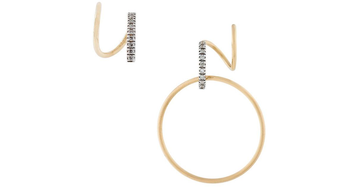 Maria Black 14kt gold Darcy Blanc diamond earring (right) - Metallic 7WMaztgO