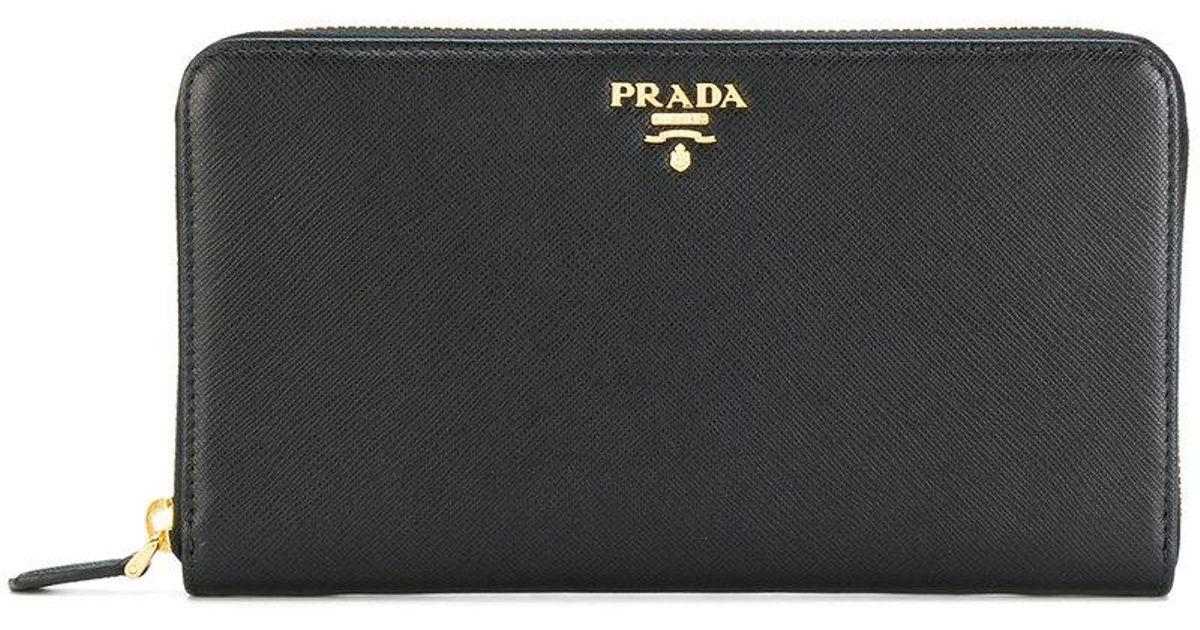 Prada Logo plaque coin wallet Fakewz7M1