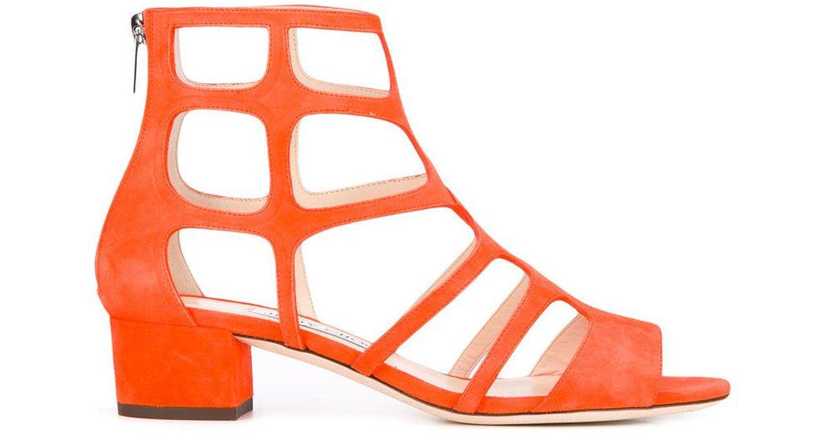 3c6e4e35281 Lyst - Jimmy Choo Ren Sandals in Orange