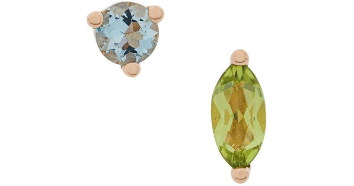 Delfina Delettrez 18kt gold Dots Solitaire tourmaline and pearl earring - White i31Y463