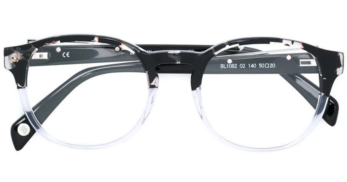 437ee58c9e Balmain Half Frame Glasses in Black - Lyst