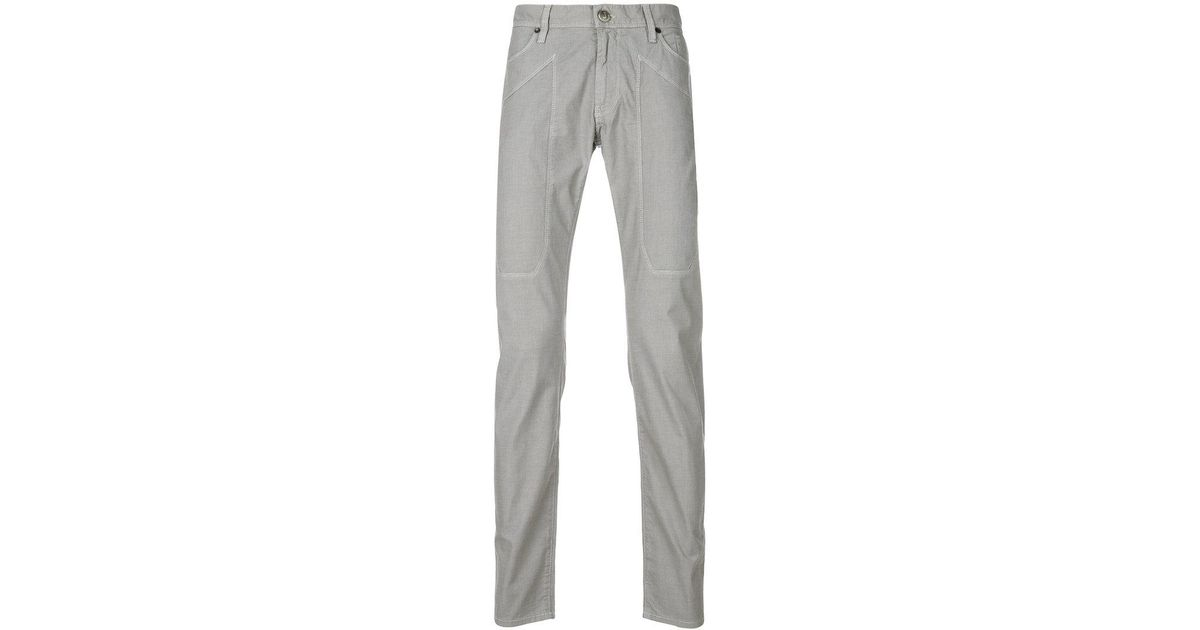 Inexpensive Online Latest Cheap Price patch detail slim fit trousers - Grey Jeckerson Cheap Sale Popular Cheap Sale Get To Buy Free Shipping With Paypal pHXmott3
