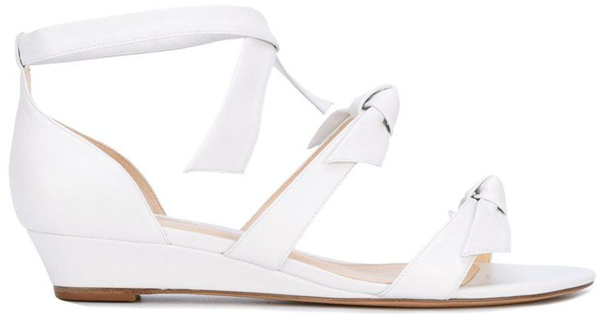6a117cc6883 Lyst - Alexandre Birman  gianna  Low Wedge Sandals in White