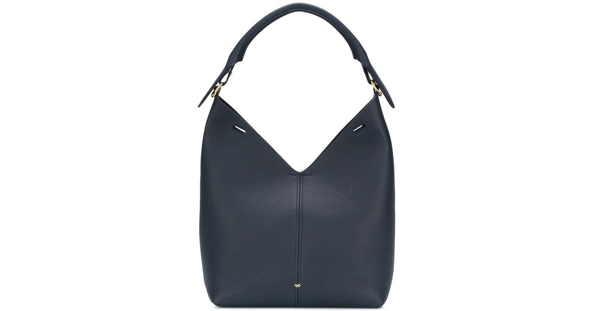 slouchy tote bag - Blue Anya Hindmarch
