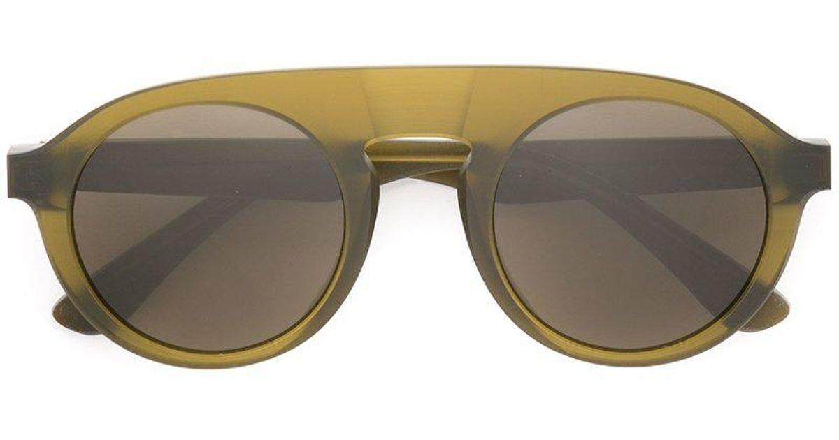 e70ce998bfb Mykita X Maison Margiela Round Sunglasses in Green - Lyst