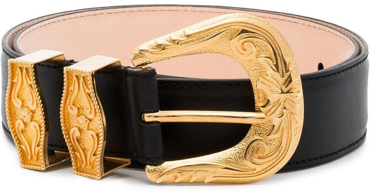 black engraved buckle leather belt Versace sTBfxlhp9