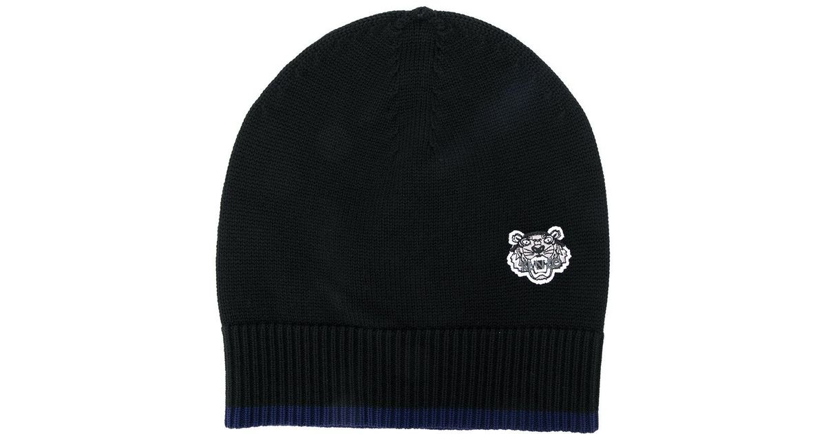 KENZO Men s Tiger Crest Wool Beanie Hat in Black for Men - Lyst f57b97f4e38