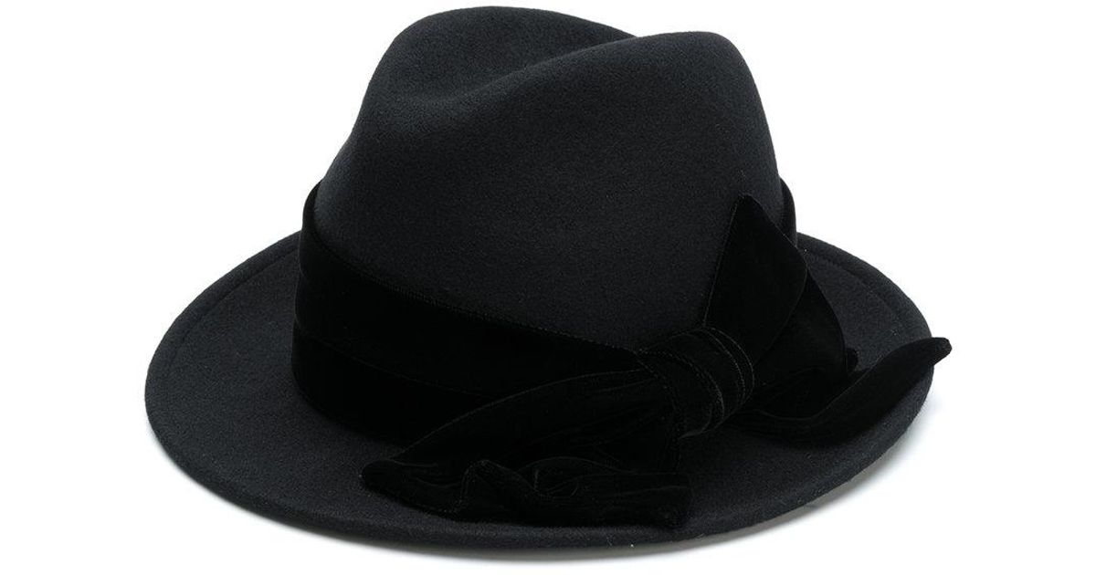 Outlet Outlet Big Sale Ca4la side bow embellished hat Cheap Marketable Cheap Looking For Marketable rekXQv