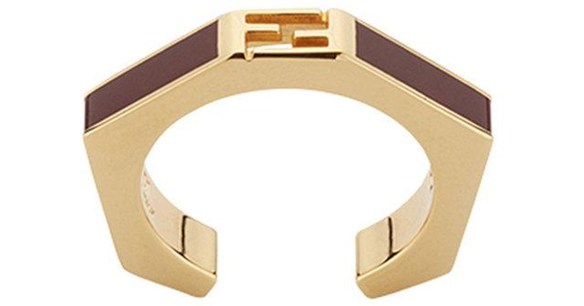 Baguette ring - Metallic Fendi g53R9qJjCd