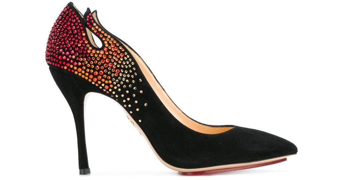 Inferno pumps - Black Charlotte Olympia