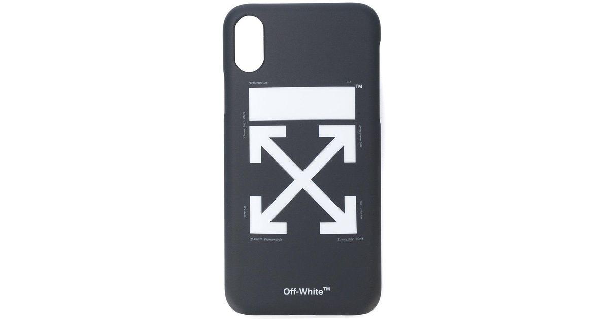 size 40 d0b40 a4a16 Off-White c/o Virgil Abloh Black Printed Iphone X Case