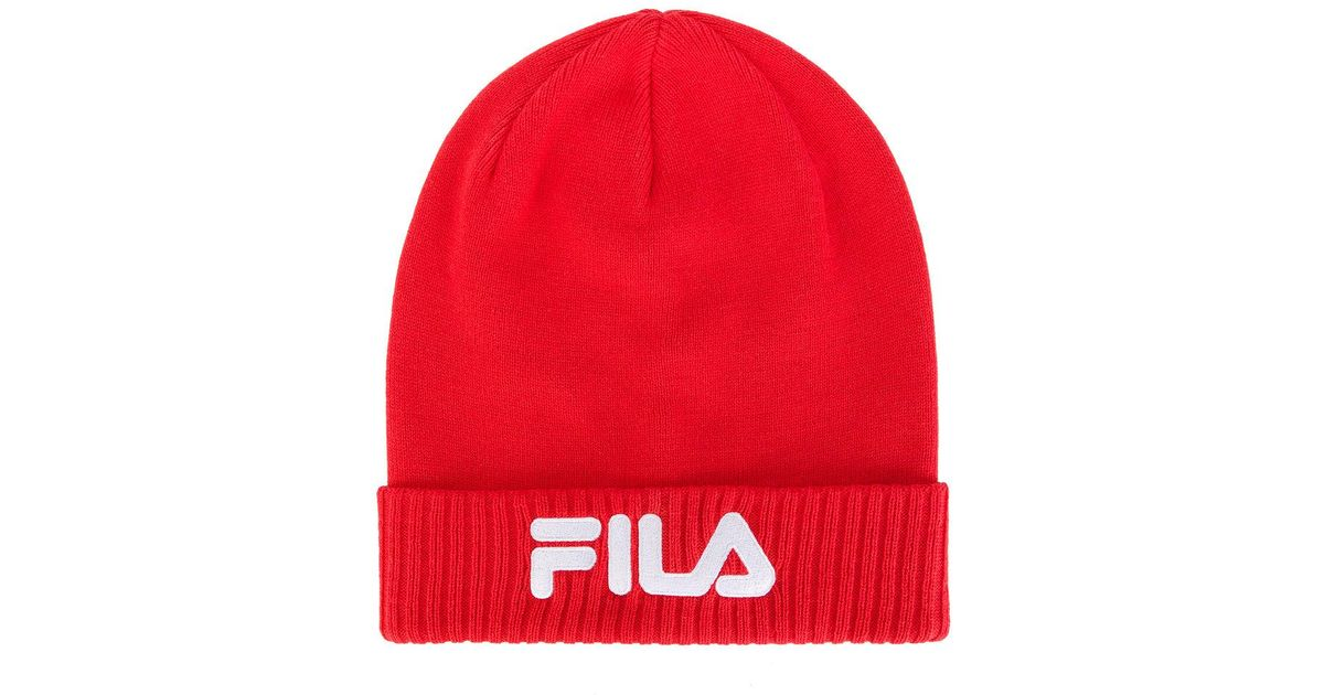 Fila Slouchy Beanie in Red for Men - Lyst 6258ae64572
