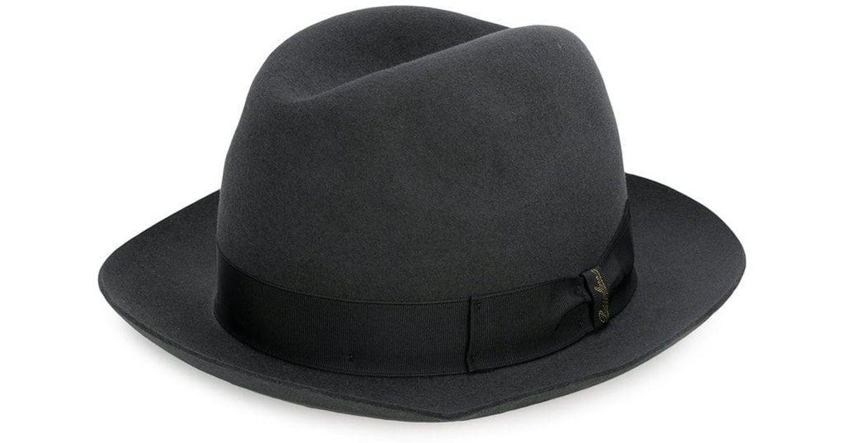 Borsalino Marengo Middle Brim Hat in Green for Men - Lyst b82c0a1fe901