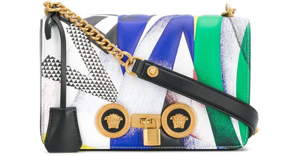 Versace Foldover Medusa Shoulder Bag in White - Lyst 07927f162a48a
