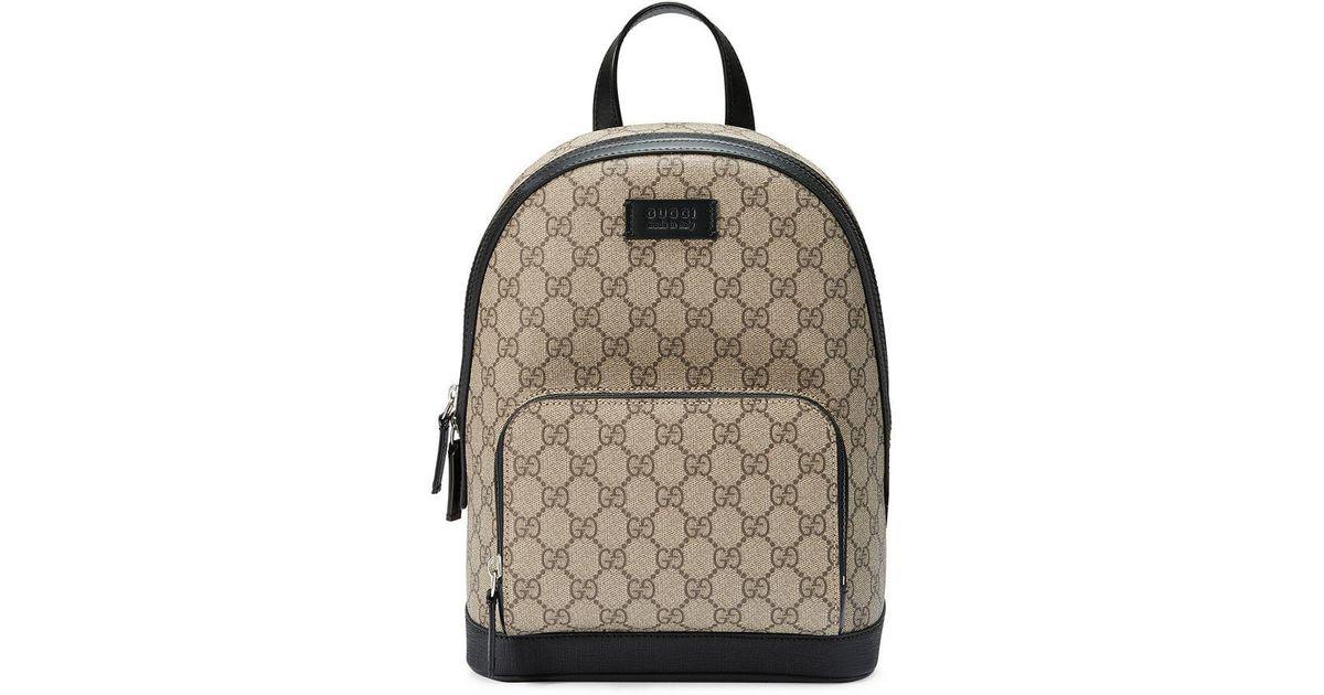 906e2810e09 Gucci GG Supreme Small Backpack in Brown - Lyst