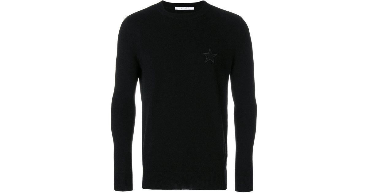 7767954a44e Lyst - Pull en cachemire à motif étoile Givenchy pour homme en coloris Noir