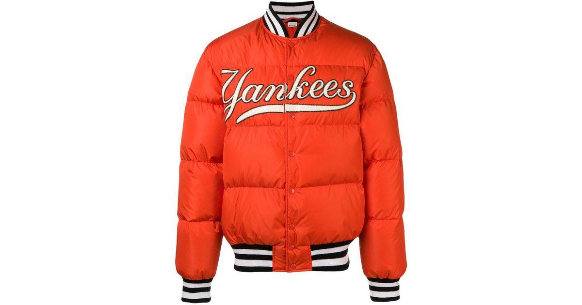 9a4bf88ce Lyst - Chaqueta Bomber de Hombre con Parche NY YankeesTM Gucci de hombre de  color Naranja