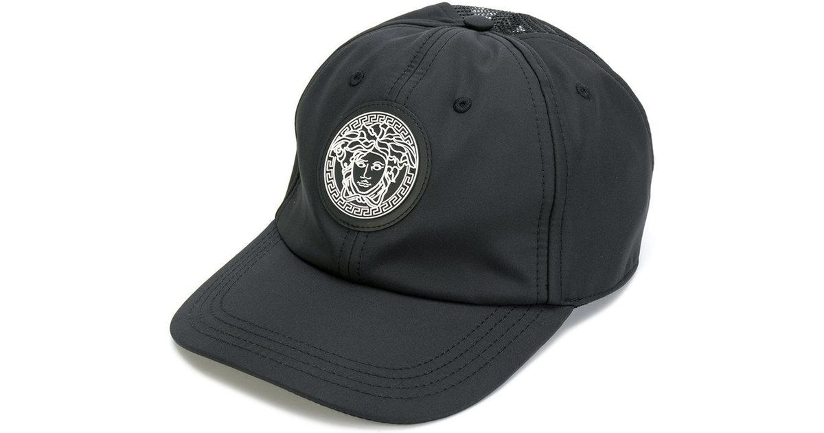 651b5dfefda Lyst - Versace Medusa Patch Baseball Cap in Black for Men