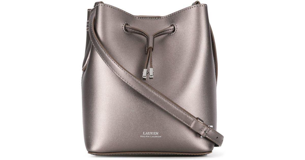 Lauren by Ralph Lauren Debby Ii Bucket Bag in Metallic - Lyst a1db0ce233