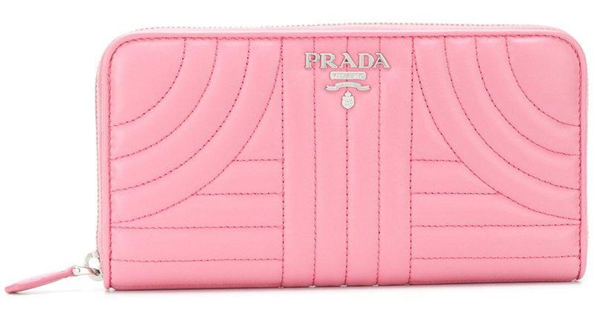 cremallera billetera Prada Prada Prada con cremallera acolchada con billetera acolchada billetera xPOBzqA
