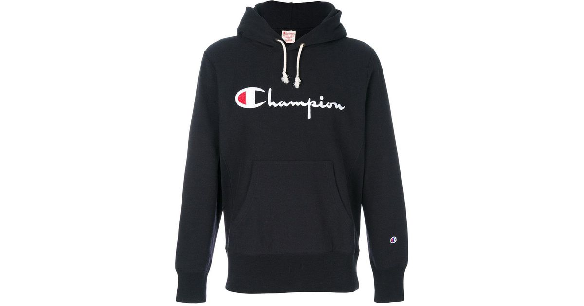 2695047cfec0a Lyst - Champion Embroidered Logo Hoodie in Blue for Men