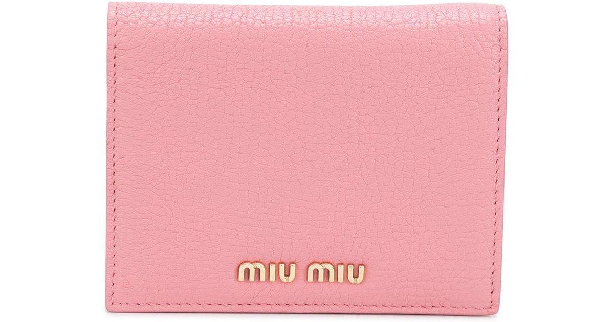 pastel billfold wallet - Pink & Purple Miu Miu NT7gLb8