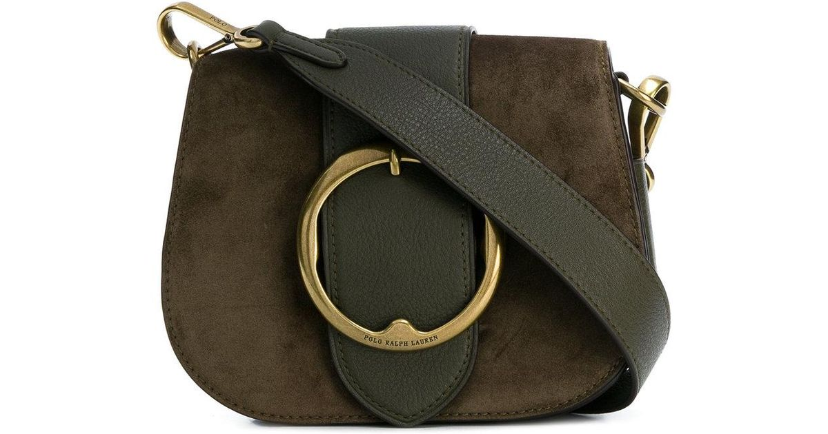 Lyst - Polo Ralph Lauren Olive Green Leather Crossbody Bag With Magnet in  Green fdaf63d81b81b
