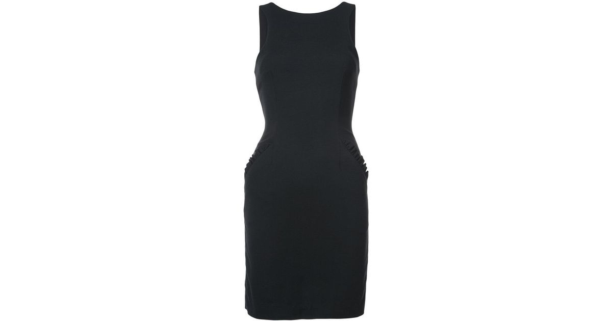 frill trim v-back dress - Black Thomas Wylde Very Cheap psUZig