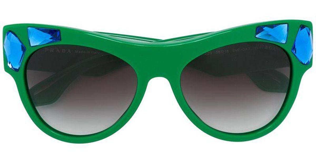 6d84d0ba8ed Prada  cinema The Voice  Sunglasses in Green - Lyst