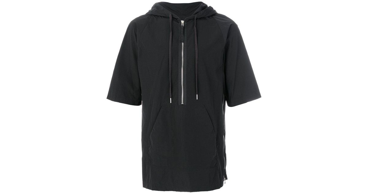 helmut lang hooded t shirt in black for men lyst. Black Bedroom Furniture Sets. Home Design Ideas
