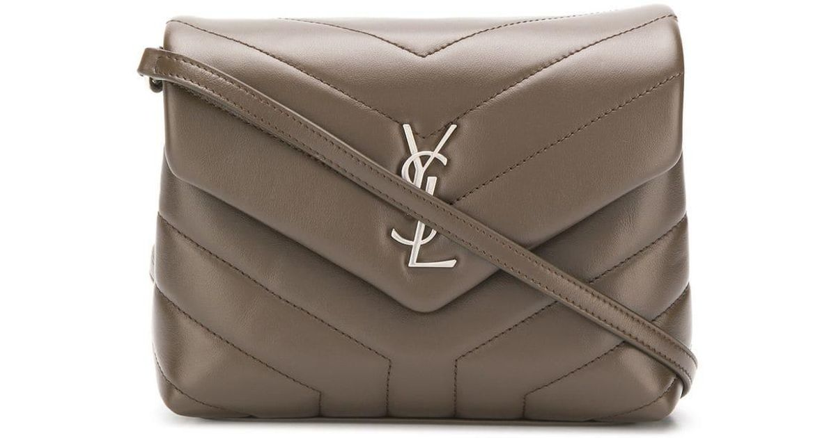 a0c9b1d22464 Saint Laurent Loulou Cross-body Bag in Brown - Lyst