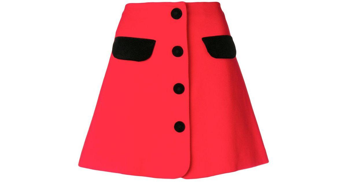3c4dcef07a Vivetta Mini Skirt in Red - Lyst