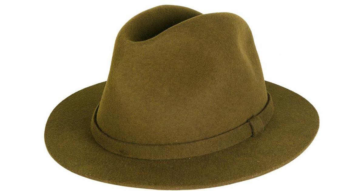 Lyst - A.P.C. Fedora Hat in Green for Men 3ee458085f8