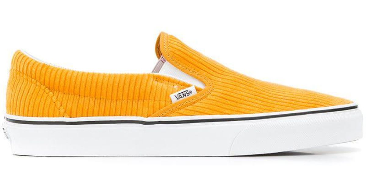 620ffdfb723041 Vans Design Assembly Slip-on Sneakers in Yellow - Lyst