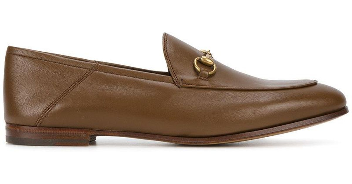 8b5a647641a Lyst - Gucci Brixton Horsebit Loafers in Brown