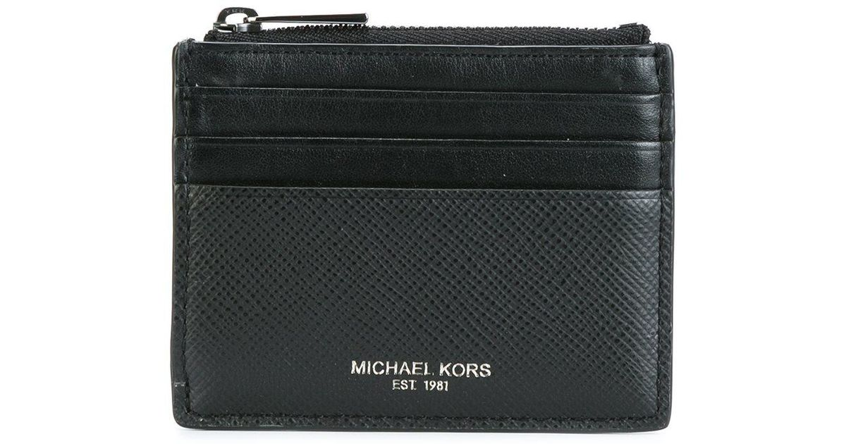 1f370e6a138f Michael Kors Top Zipped Flat Cardholder in Black for Men - Lyst