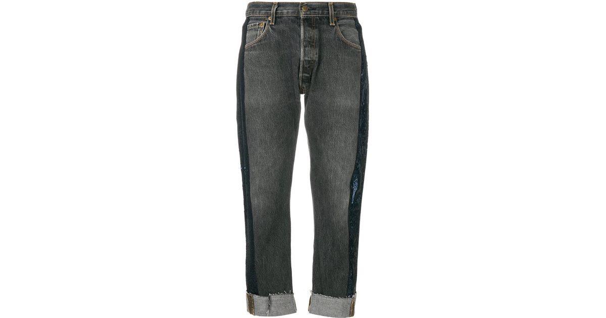 sequin stripe cropped jeans - Black Kendall + Kylie l6tqP