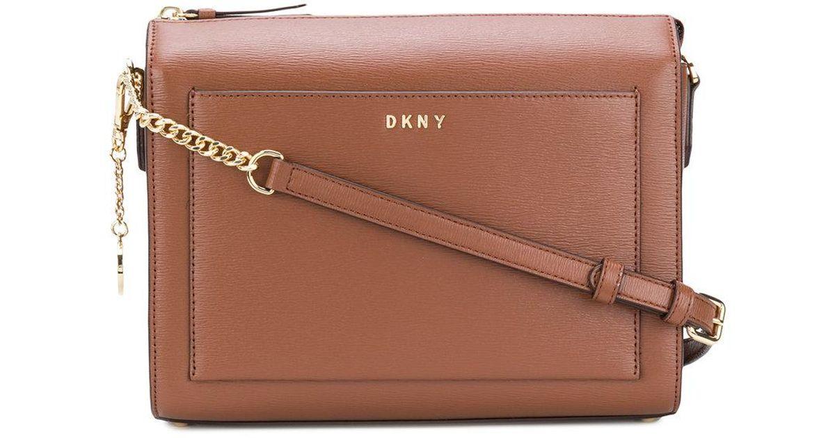 e3d5245af94e Lyst - DKNY Sutton Medium Box Crossbody Bag in Brown