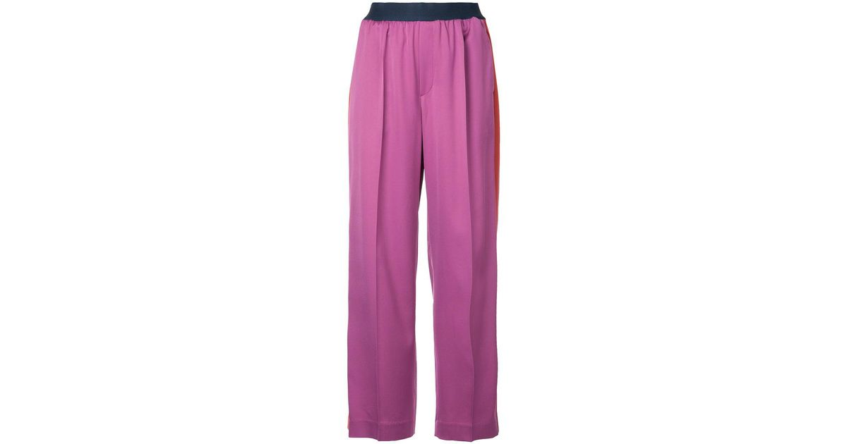 side stripe wide trousers - Pink & Purple Astraet Q5h4AR5Eg
