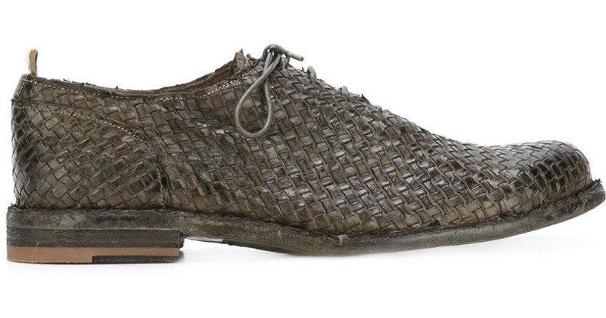 Officine Tissé Créatif Chaussures Oxford - Gris KWf7BAt