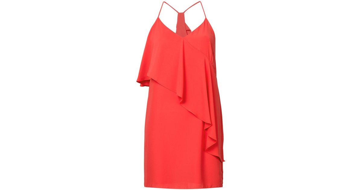 asymmetrical ruffle top dress - Red Amanda Uprichard be3R0K