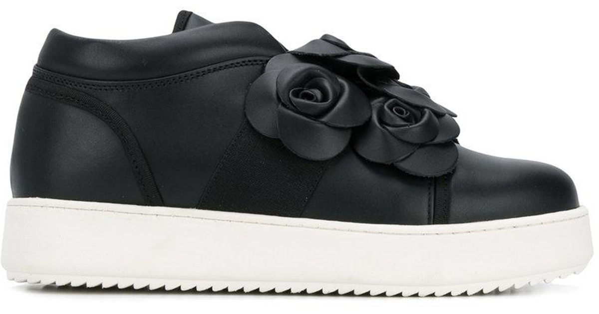 timeless design 347ae f5e0e twin-set-Black-Casual-Flower-Sneakers.jpeg