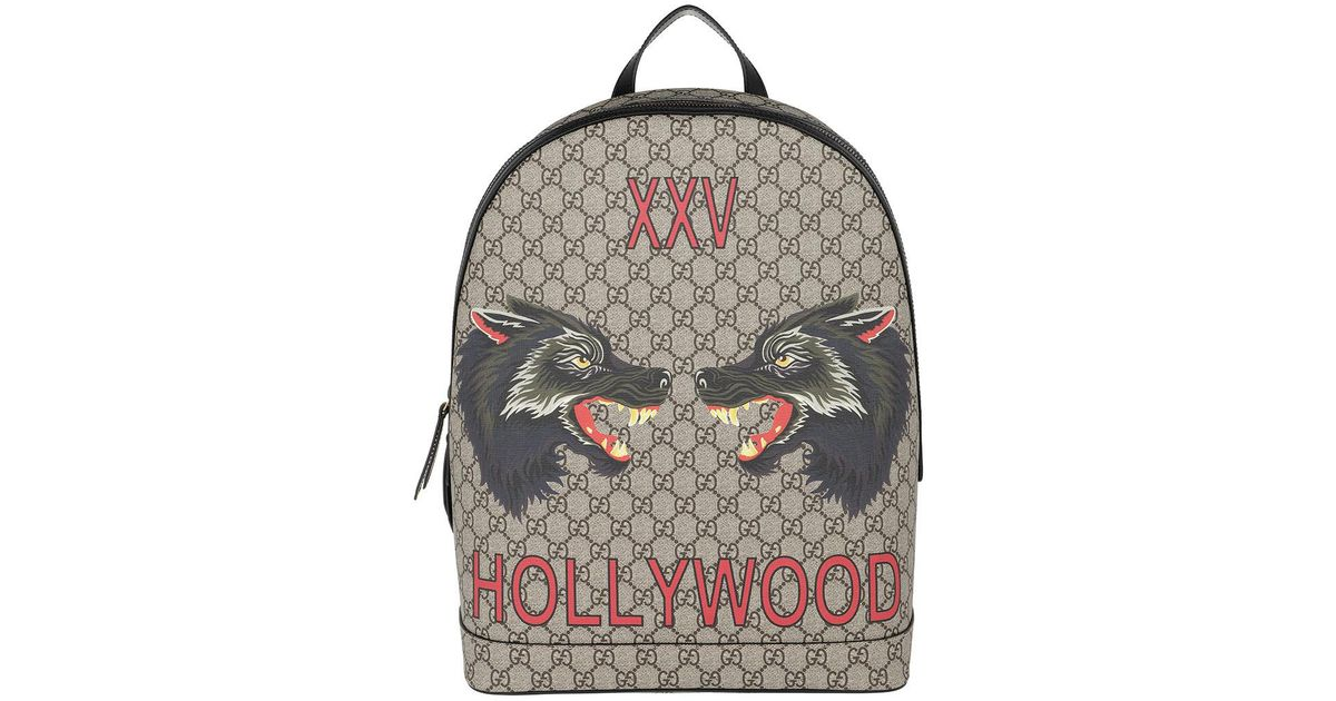 Gucci Gg Supreme Backpack Bee Print - Lyst